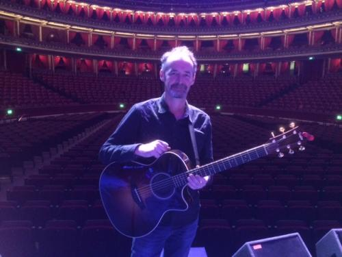 Sound check at the Royal Albert Hall