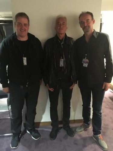 With Jimmy Page in London