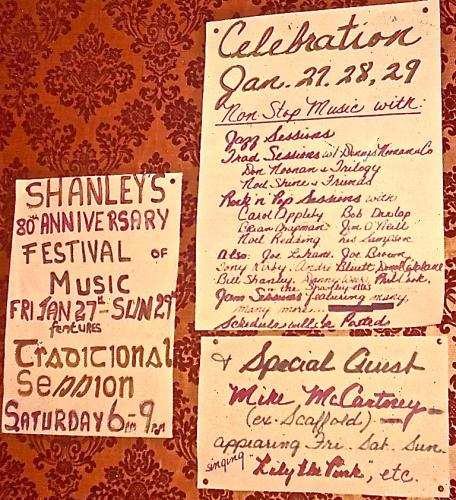 Celebrating 80 years of Shanley's Bar in 1984
