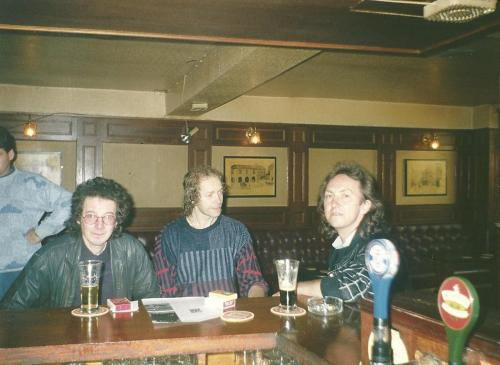 Noel Rdding, Eric Bell and Mitch Mitchell at Shanleys 1990